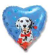"""18"""" Dalmatian Rose Mylar Balloon"""