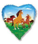 "18"" Horses Heart Mylar Balloon"