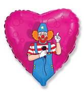 """18"""" Mylar Balloon Party Clown"""