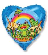 "18"" Happy Frog Mylar Balloon"