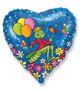 """18"""" Grasshopper Festive Mylar Balloon"""