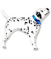 "32"" Realistic Dalmatian Dog Blue Collar"