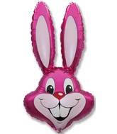 """35"""" Rabbit Head Fuchsia"""