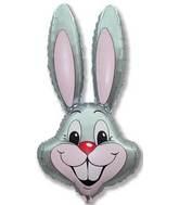 "35"" Rabbit Head Grey"