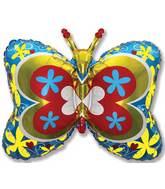 "35"" Blue Deco Butterfly"