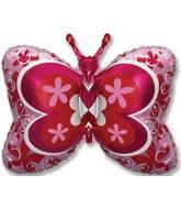 "35"" Fuchsia Deco Butterfly"