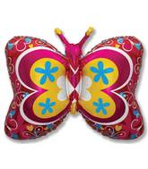 """35"""" Red Deco Butterfly"""