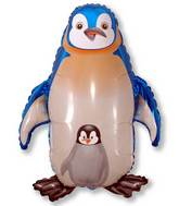 "35"" Jumbo Mylar Penguin Balloon Blue"