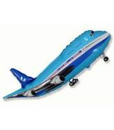 """40"""" Blue Airplane Shape"""