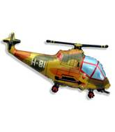 "22"" Helicopter Balloon Millitary"