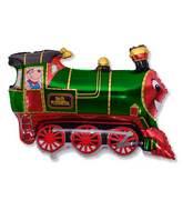 """30"""" Foil Train Balloon Green"""
