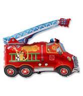 """31"""" Fire Truck Balloon"""