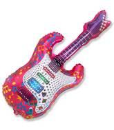 """44"""" Music Jumbo Guitar Balloon Fuchsia"""
