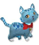 "36"" Sweet Cat Balloon Blue"