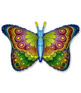 """35"""" Butterfly Coquette Blue"""