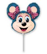 Airfill Only lolly Mouse Blue Balloon