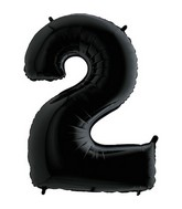 "40"" Megaloon Foil Shape Polybagged 2 Black Balloon"