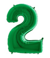 "40"" Megaloon Foil Shape 2 Green Number Balloon"