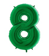 "40"" Megaloon Foil Shape 8 Green Number Balloon"