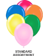 "9"" Assorted Party Style Latex Balloons (100 CT)"