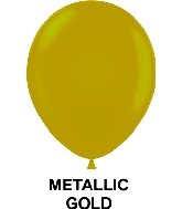 "11"" Metallic Party Style Latex Balloons (100 CT) Gold"