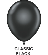 "9"" Sheer Party Style Latex Balloons (100 CT) Black"