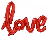 """40"""" Airfill Only Love Script - Red Script Word"""