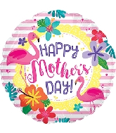 """17"""" Happy Mother's Day Flamingo Foil Balloon"""