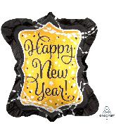 "27"" Jumbo Happy New Years Streamers & Sparkles Foil Balloon"
