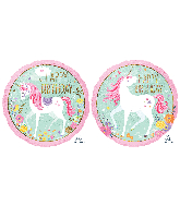 "18"" Magical Unicorn Happy Birthday Foil Balloon"