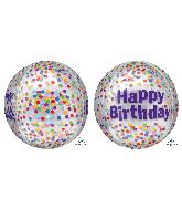 """16"""" Orbz Happy Birthday Funfetti Foil Balloon"""