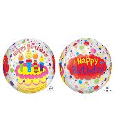 "16"" Orbz Happy Birthday Candles & Confetti Foil Balloon"