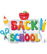 "34"" Jumbo Back to School Icons Foil Balloon"
