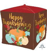 """15"""" Cubez Thanksgiving Pumpkins Foil Balloon"""