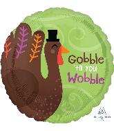 """18"""" Gobble 'til You Wobble Foil Balloon"""