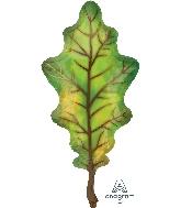 """42"""" Fall Green Oak Leaf Foil Balloon"""