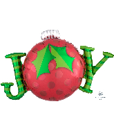 "31"" Jumbo JOY Ornament Foil Balloon"
