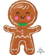 "31"" Happy Gingerbread Man Foil Balloon"