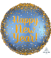"18"" Gold & Satin New Year Foil Balloon"