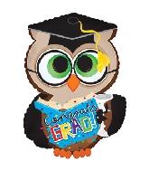 """23.5"""" Congrats Grad Owl Foil Balloon"""