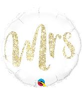 """18"""" Mrs Gold Foil Balloon"""