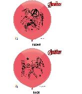 "17"" Avengers Latex Balloons 3 Count"