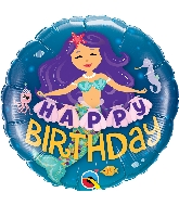 "18"" Birthday Mermaid Foil Balloon"