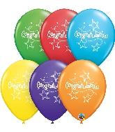 "11"" Congratulations Stars Latex Balloons 50 Count"