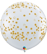 "36"" Confetti Dots Latex Balloons 2 Count"