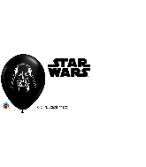 "5"" Darth Vader Face Latex Balloons 100 Count"