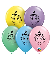 "5"" Unicorn Head Latex Balloons 100 Count"