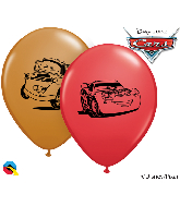"""5"""" Latex Balloons Disney Cars McQueen Assort 100 Per Bag"""