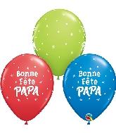 """11"""" Bonne Fête Papa Étoiles Latex Balloons 50 Count"""