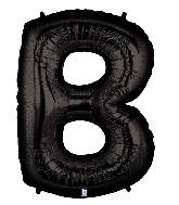 "40"" Megaloon Large Foil Letter Shape Balloon B Black"